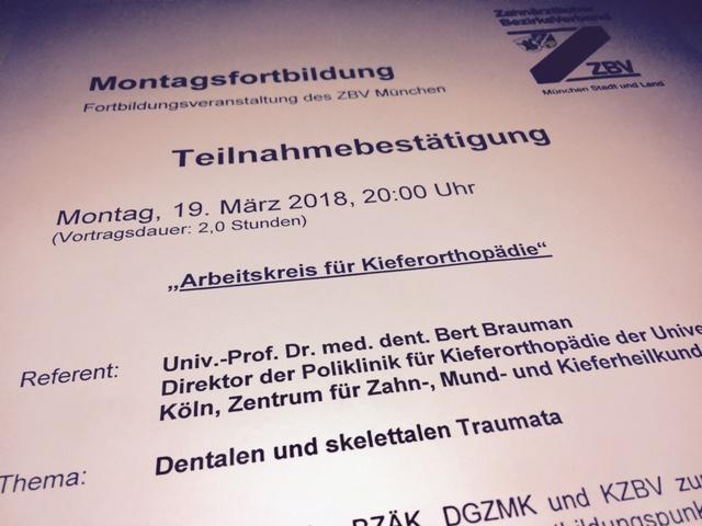 Fortbildung für Kieferorthopäden in München Kieferorthopädie